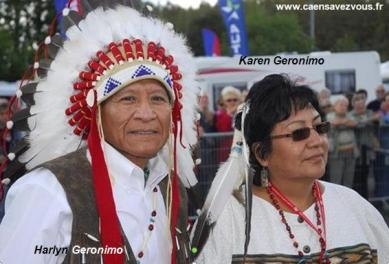 Harlyn Geronimo y su esposa Karen