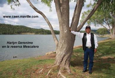 Harlyn Geronimo en la reserva Mescalero