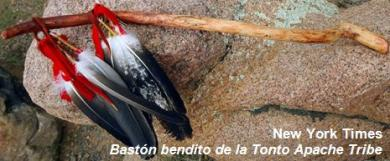 Bastón bendito de la Tonto Apache Tribe