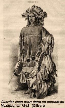 Guerrier lipan mort dans un combat au Mexique, en 1842 (Gilbert)