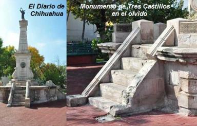 Monumento de Tres Castillos en el olvido