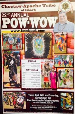 Pow Wow de la Choctaw-Apache Tribe 1
