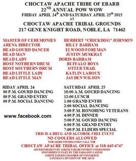 Pow Wow de la Choctaw-Apache Tribe 2