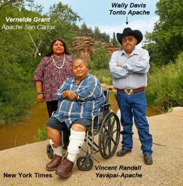 Vernelda Grant, Wally Davis y Vincent Randall