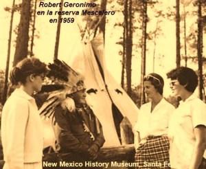 Robert Geronimo en la reserva Mescalero en 1959 (New Mexico History Museum, Santa Fe)